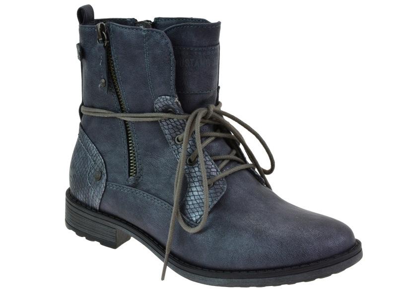 87a2285a92c78 Dámské zimní boty Mustang z kvalitní syntetické kůže.