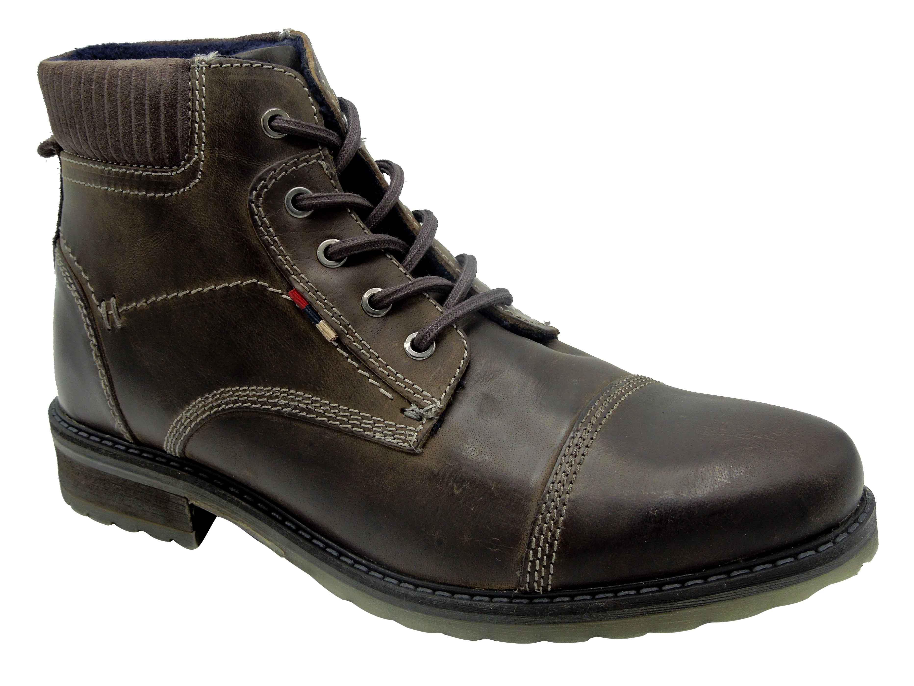 Pánská zimní kotníková obuv s protiskluzovou a stabilní podrážkou. ca8a81f027
