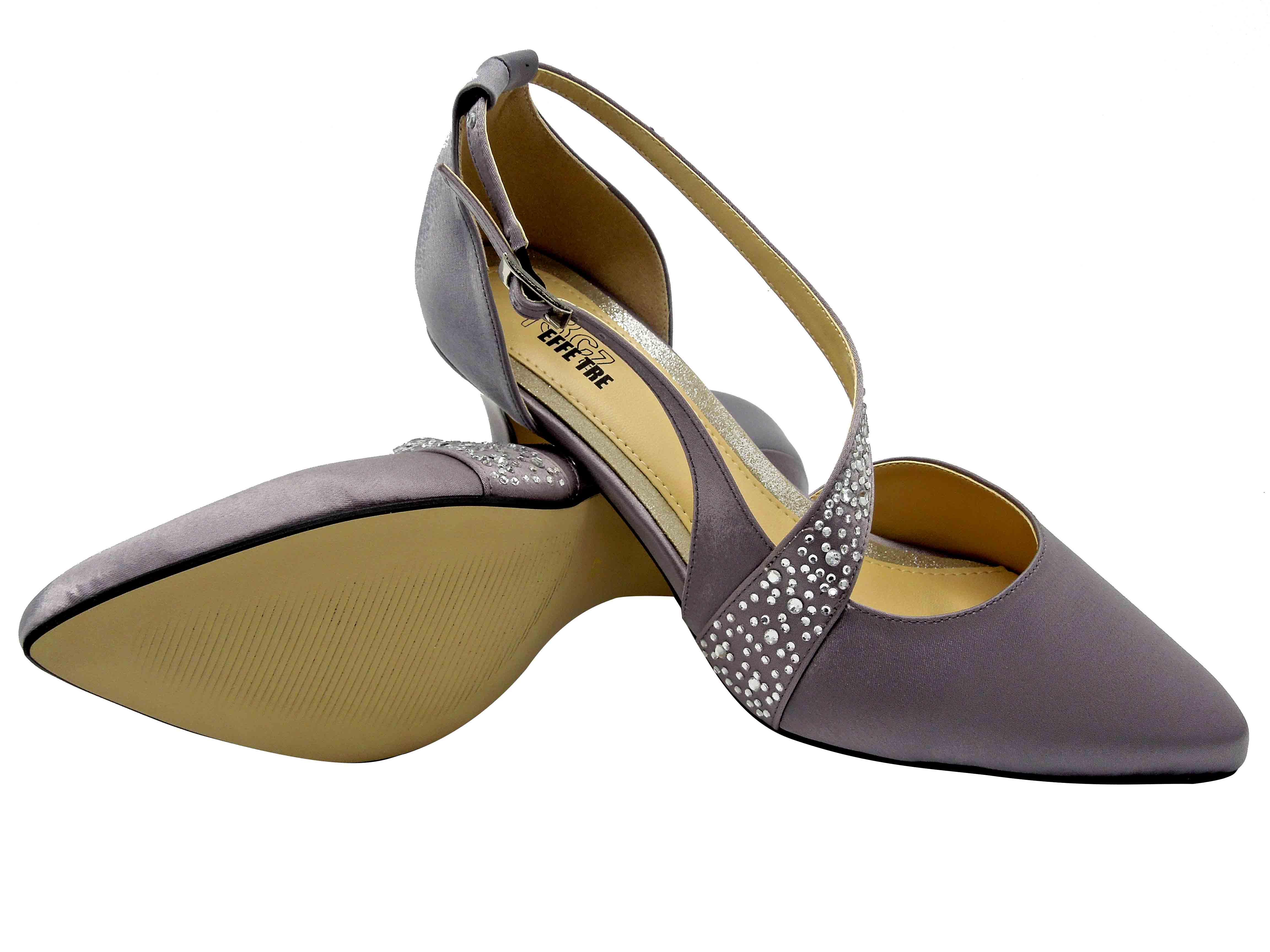 Dámské společenské boty L22920 stříbrná 10261d361e