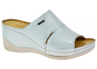 Dámská letní obuv na klínku W0465 stříbrná empty 1d6e7a4c66
