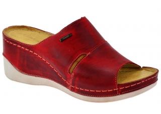 9fba36724a3 Dámské letní boty na klínku W0465 červená empty