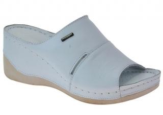 Dámská letní obuv na klínku W0465 bílá empty d393a83c81