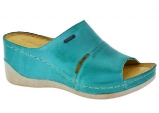 faff025d687 Dámská letní obuv na klínku W0465 modrá empty