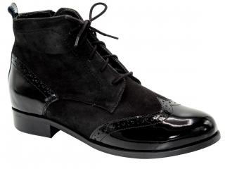 Dámské kotníkové boty K2808 černá empty 3c1a60493d