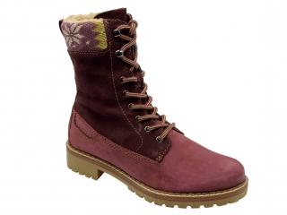Dámské zimní boty Klondike WH-022H21S bordo empty ce88565e1c