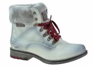 Dámské zimní boty Mustang M43C091 šedobílá empty f046df55ca