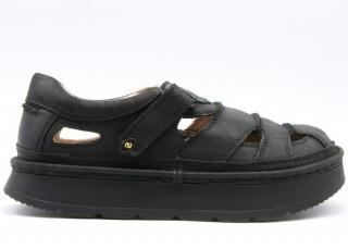 2dce51ab94 Letní boty na vyšší podrážce L3860 černá nubuk empty